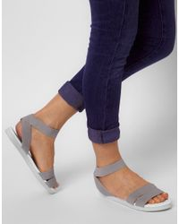 ASOS - Gray Asos Fun Fair Flat Sandals - Lyst
