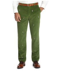 Brooks Brothers Green Clark Eightwale Embroidered Penguin Pants for men