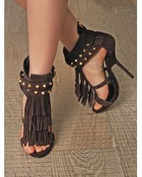 Giuseppe Zanotti - Brown African Suede Sandals - Lyst
