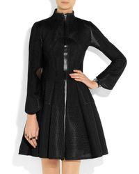 Junya Watanabe Black Flared Panel Coat