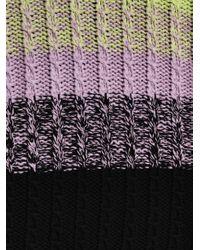 Tibi Purple Chunky Cableknit Sweater