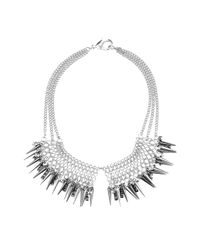 TOPSHOP | Metallic Spike Chain Necklace By Cjg | Lyst