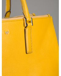 Anya Hindmarch Yellow Ebury Soft Tote