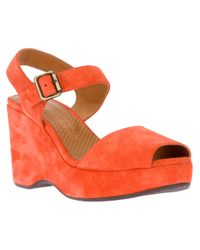 Chie Mihara Orange Mayli Wedge Sandal