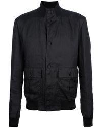 Dolce & Gabbana Black Lightweight Bomber Jacket for men