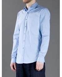 Gucci   Blue Classic Shirt for Men   Lyst