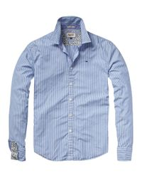 Hilfiger Denim Blue Thomas Printed Shirt for men
