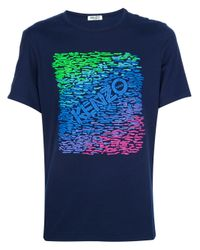 KENZO | Blue Printed T Shirt for Men | Lyst