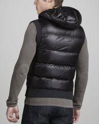 Moncler - Black Knitfront Puffer Vest for Men - Lyst