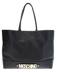 Moschino Black Tote Shopper