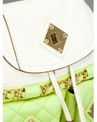 Moschino White Quilted Backpack