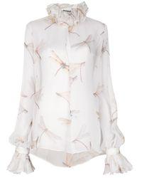 Alexander McQueen White Ruffle Collar Blouse