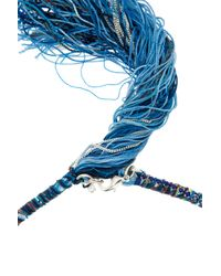 Alyssa Norton | Blue Braided Silk With Crystals Necklace | Lyst