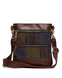 Brooks Brothers Brown Wool Crossbody Bag