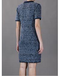Lanvin Blue Tweed Dress