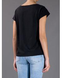 Acne - Black T-shirt - Lyst