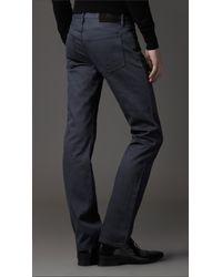 Burberry Steadman Blue Rinse Slim Fit Jeans for men