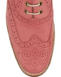Foot The Coacher Pink Martha Suede Brogues