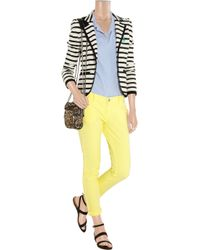 Juicy Couture Yellow Cropped Low-rise Skinny Jeans