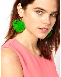 Tatty Devine | Green Hot House Leaf Earrings | Lyst