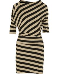 Vivienne Westwood Anglomania | Natural Arianna Striped Linenblend Dress | Lyst