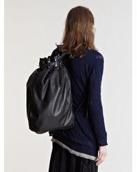 Yohji Yamamoto Black Yohji Yamamoto Mens Horse Leather Sack for men
