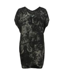 AllSaints Black Mono Camile Dress