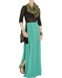 Antik Batik Green Jane Pleated Silk-crepe Maxi Skirt