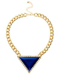 ASOS | Metallic Limited Edition 70's Drop Choker Necklace | Lyst