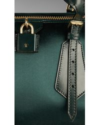Burberry Green The Blaze in Duchess Satin and Leather