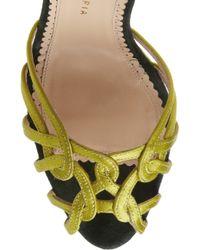 Charlotte Olympia Green Ursula Silk-satin Sandals