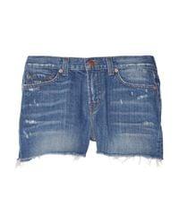 J Brand Blue The Sachi Cutoff Shorts