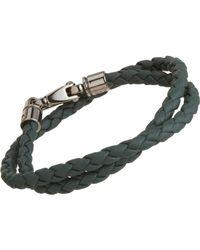 Tod's - Green Large Leather Bracelet for Men - Lyst