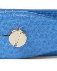 Valextra Blue Fullgrain Leather Bracelet for men