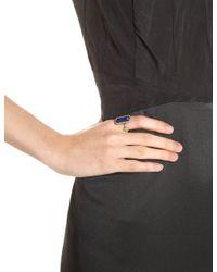 Armenta | Metallic Midnight Emerald Cut Lapis Ring | Lyst