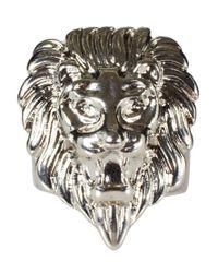 ASOS Metallic Lion Head Signet Ring for men