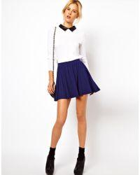 ASOS | Blue Skirt in Skater Style | Lyst