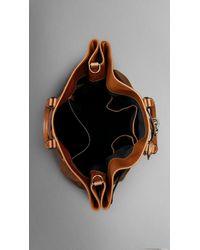 Burberry Brown Antiqued Nubuck Travel Bag for men