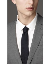 Burberry Gray Modern Fit Wool Suit for men