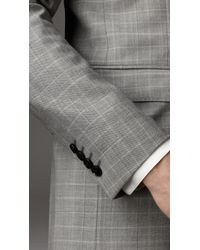 Burberry   Beige Modern Fit Virgin Wool Windowpane Check Suit for Men   Lyst