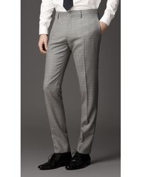 Burberry Natural Modern Fit Virgin Wool Windowpane Check Suit for men