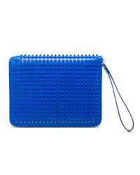 Christian Louboutin | Blue Cris Studded Leather Ipad Case | Lyst