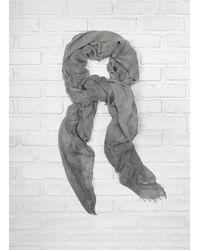 John Varvatos - Gray Solid Vintage Scarf for Men - Lyst