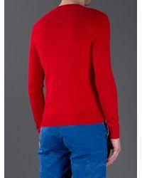 Polo Ralph Lauren Red Crew Neck Sweater for men