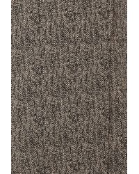 TOPSHOP Gray Herringbone Lightweight Duster Coat