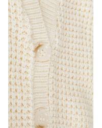 TOPSHOP Natural Knitted Short Grunge Cardi