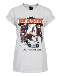 TOPSHOP White Beastie Boys Tee By and Finally