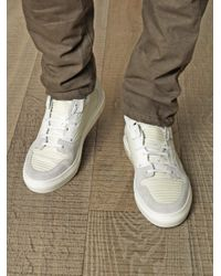 Balenciaga | White Ribbedleather Hightop Trainers for Men | Lyst