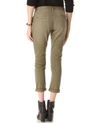 Current/Elliott | Green The Buddy Trouser Pants | Lyst