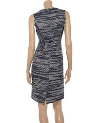 Derek Lam Blue Cottonblend Tweed Dress